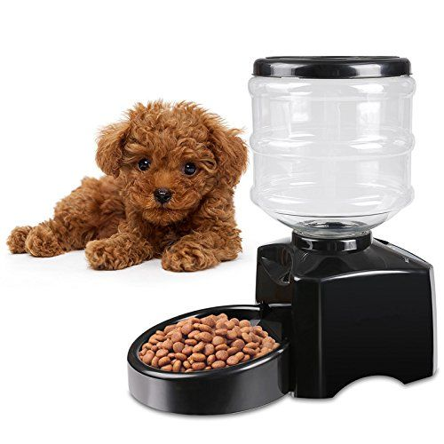 Anfan 5 5 Liter Large Electric Automatic Pet Feeder Dog Cat Food