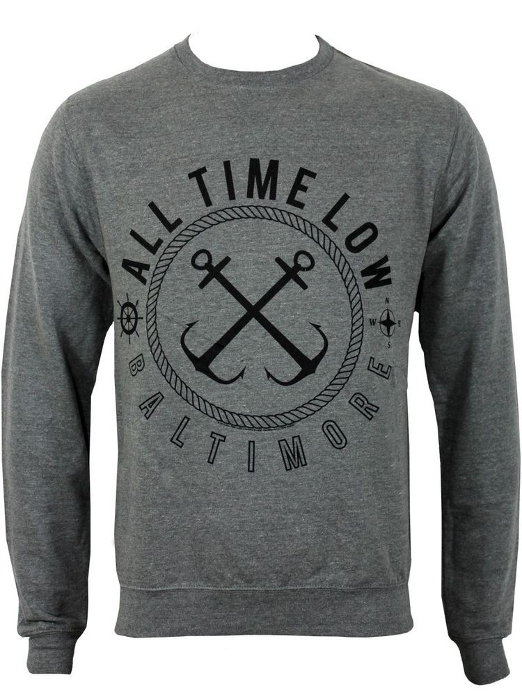 Official Jumper ALL TIME LOW Grey SEA SICK Band Jumper All Sizes
