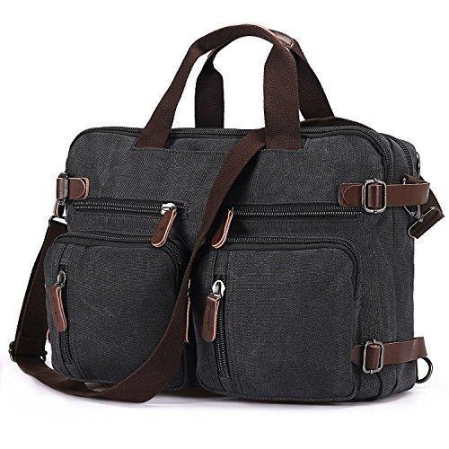 7a02077133c10 Comprar Ofertas de BAOSHA HB-22 Vintage lienzo bolso de mano hombres del  maletín mochila Convertible bolsa de ordenador portátil mochila de viaj  barato.