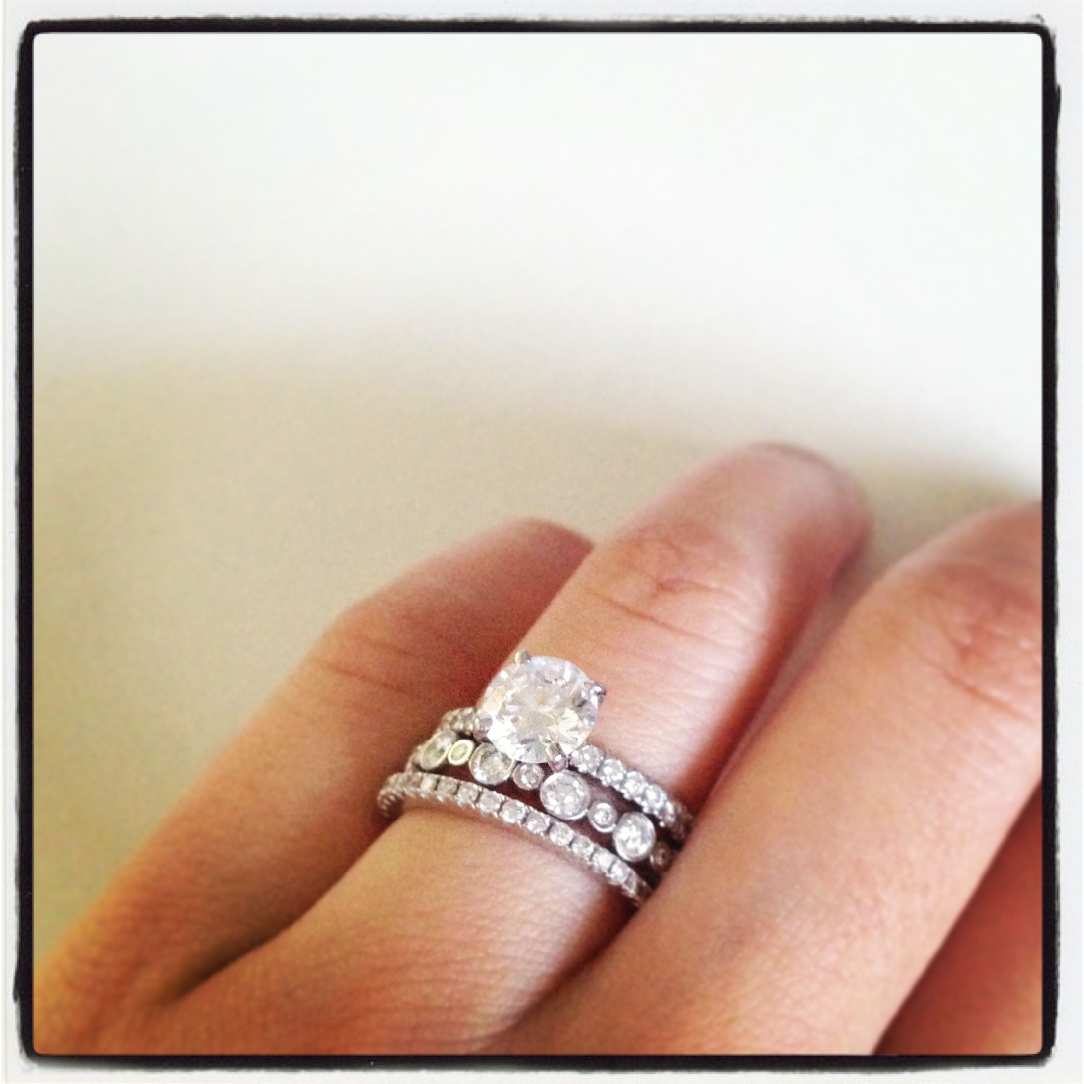 wedding ring stack | wedding ideas | pinterest | ring, weddings