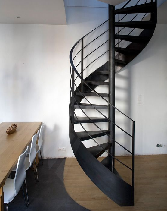 Photo dh50 spir 39 d co standing escalier d 39 int rieur m tallique h l - Escalier metallique design ...