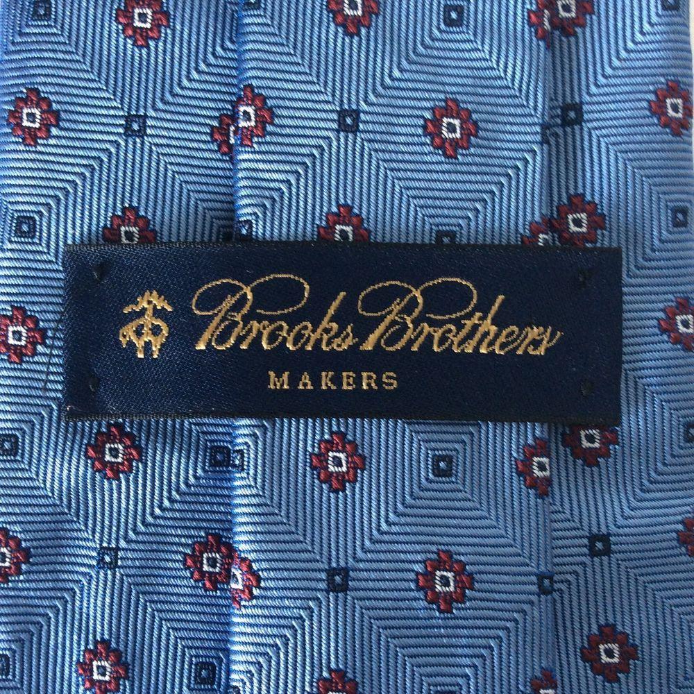 Brooks Brothers Makers Label Blue Silk Necktie Originally 75 Brooksbrothers Tie Brooks