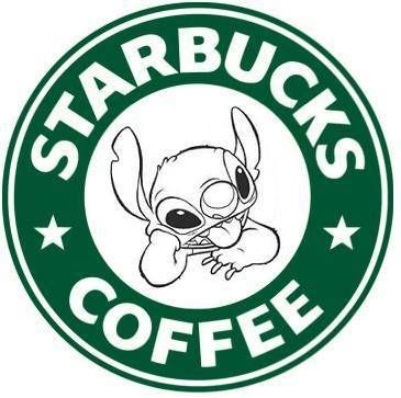 dfb961b9e3e Stich and cofee! | Design and Art | Starbucks logo, Disney starbucks ...