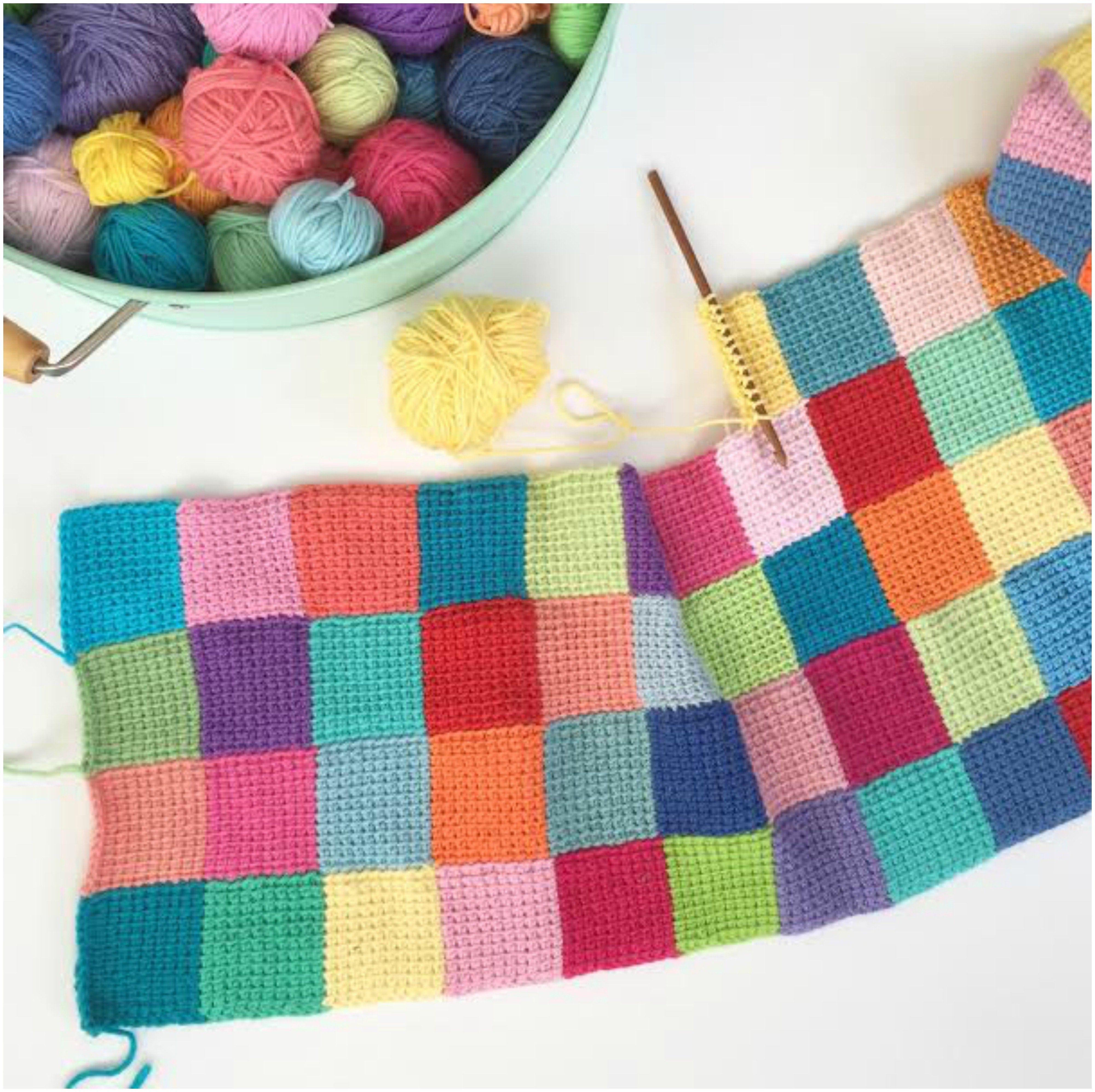 Entrelac Blanket Free Crochet Pattern | Stricken | Pinterest ...
