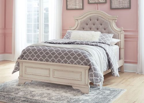 Best Ashley Realyn Chipped White Full Upholstered Bed In 2020 Panel Bed Twin Storage Bed Bed 640 x 480