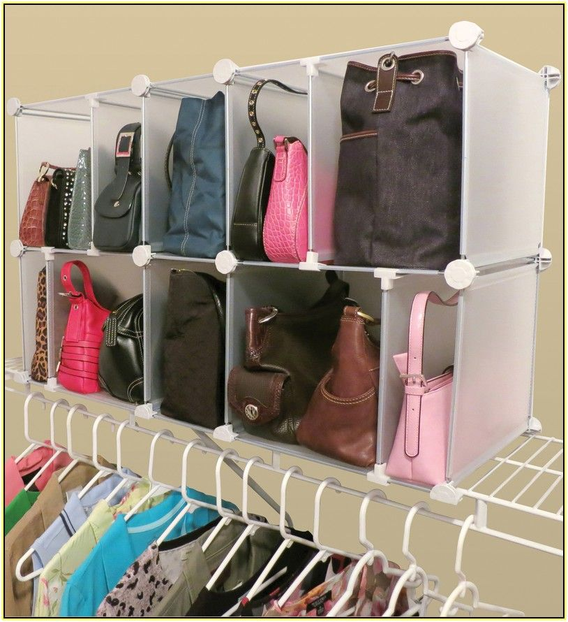 Adjule Modular Rack In Closet Ideas For Purse Storage