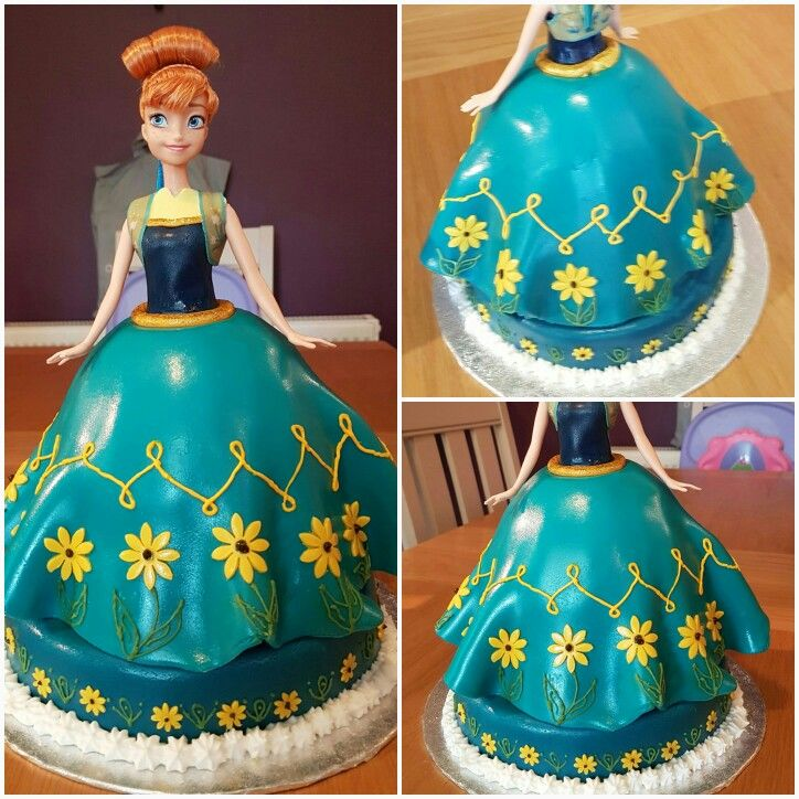 Disney Frozen Fever Anna Birthday Cake With Images Frozen