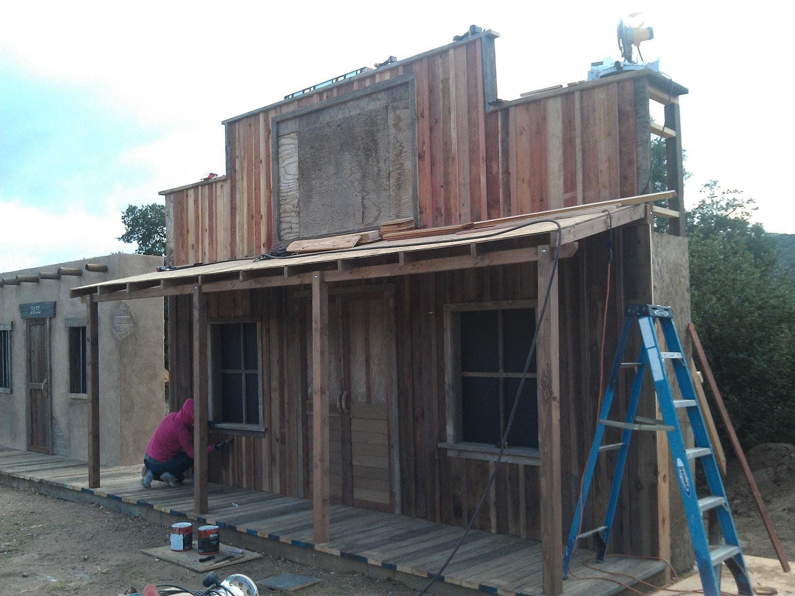 Building Western Ghost Town General Store Facade