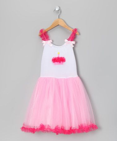 Look at this #zulilyfind! Pink Cupcake Candy Tulle Dress - Toddlers & Girls…