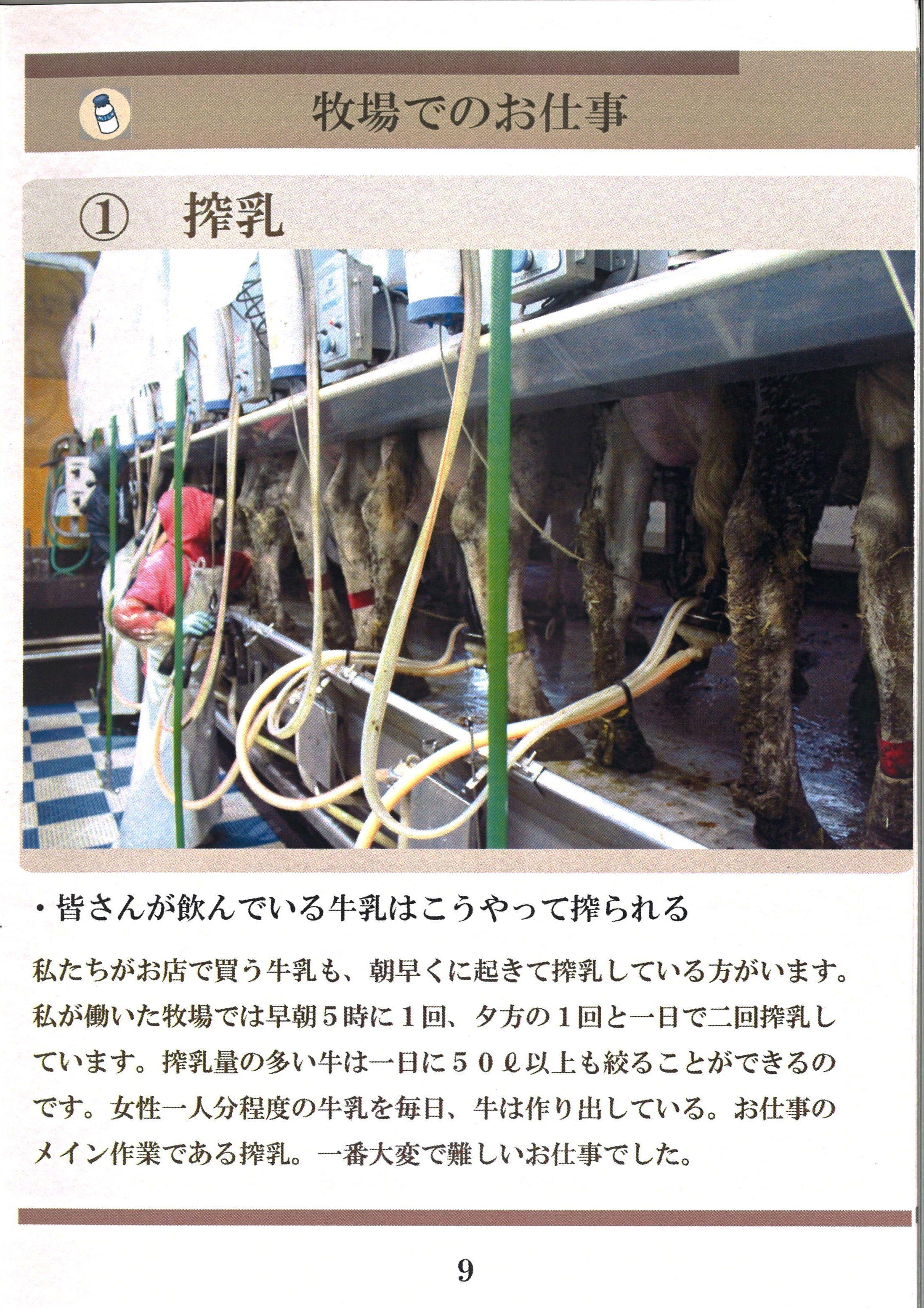 9ページ:牧場のお仕事①