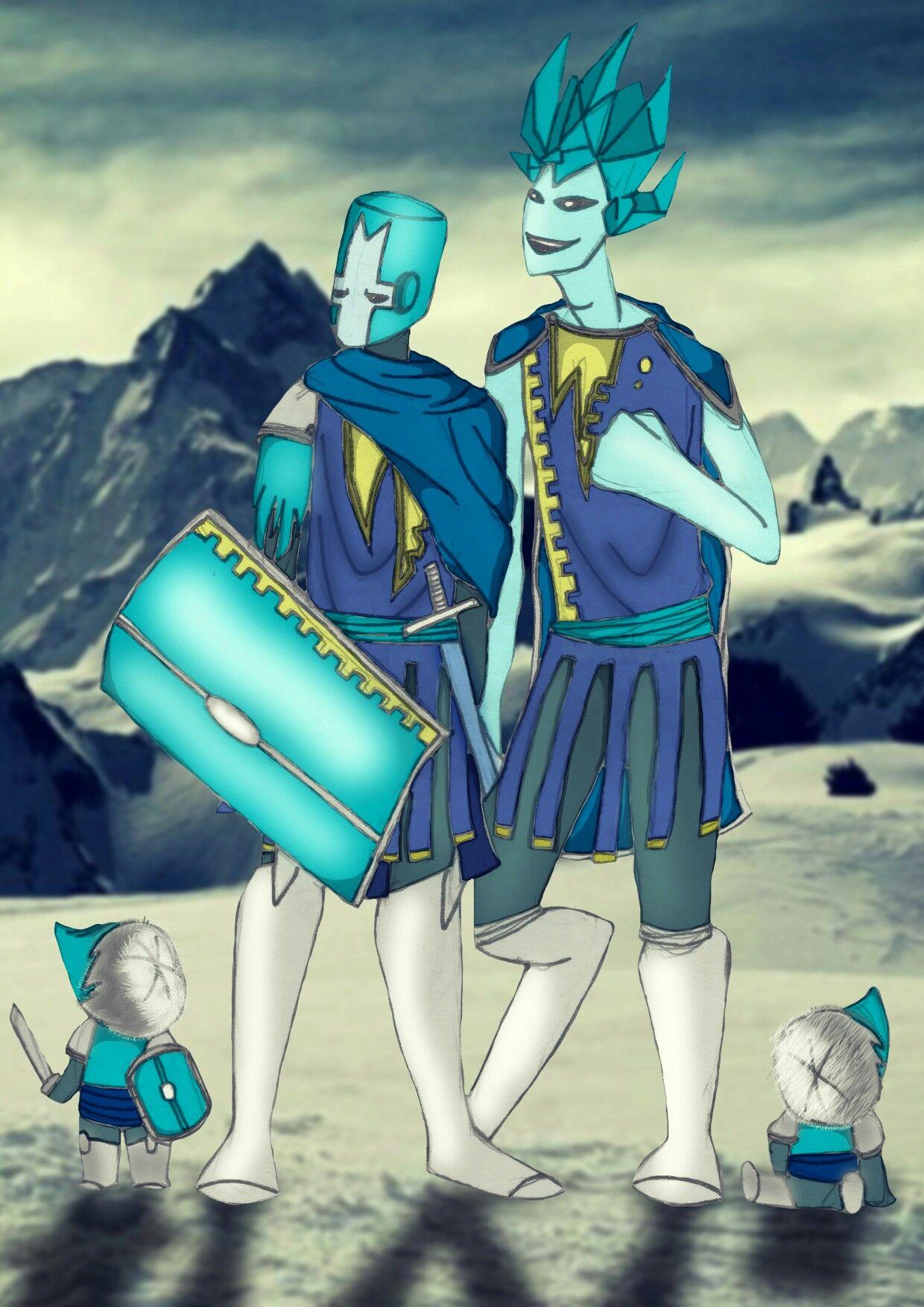castle crashers blue knight ice knight ice king