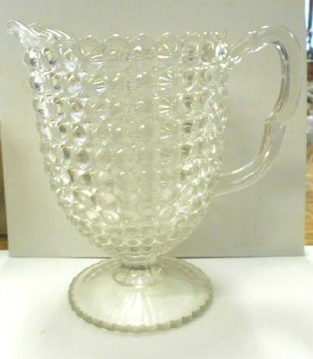"""Thousand Eye"" pattern pitcher. 8""H x 5.25""D"