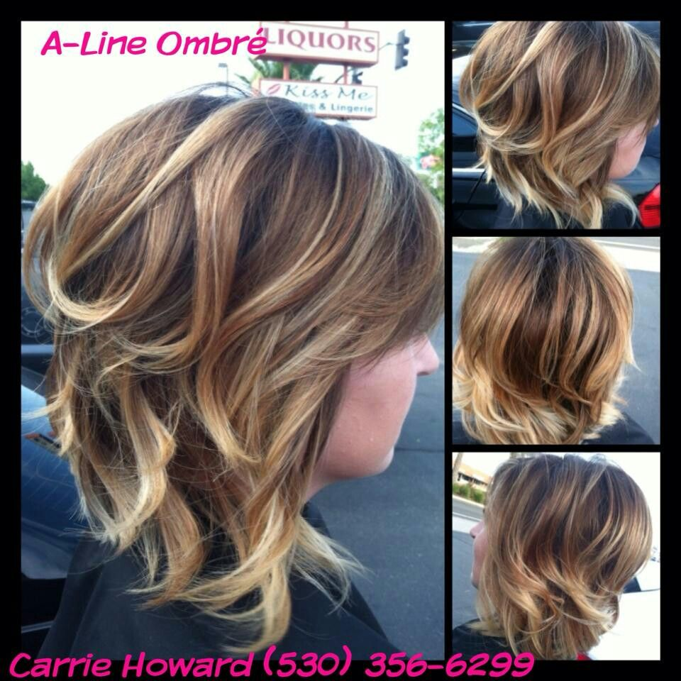 A Line Ombre I Want This Hair Red Chair Salon Redding Ca Hair
