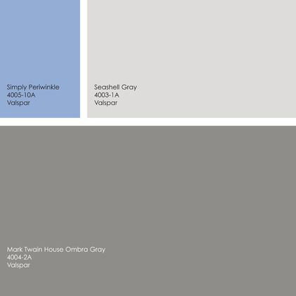 door valspar simply periwinkle then pair it with mark twain house ombra gray for the main house color and seashell gray for accents or trim - Battleship Grey Color