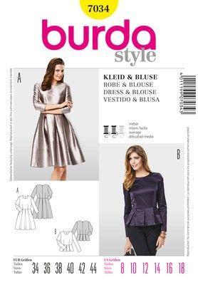 timeless design a1911 c001f Cartamodello Burda, abito e blusa, taglie 34-44 | modelli ...