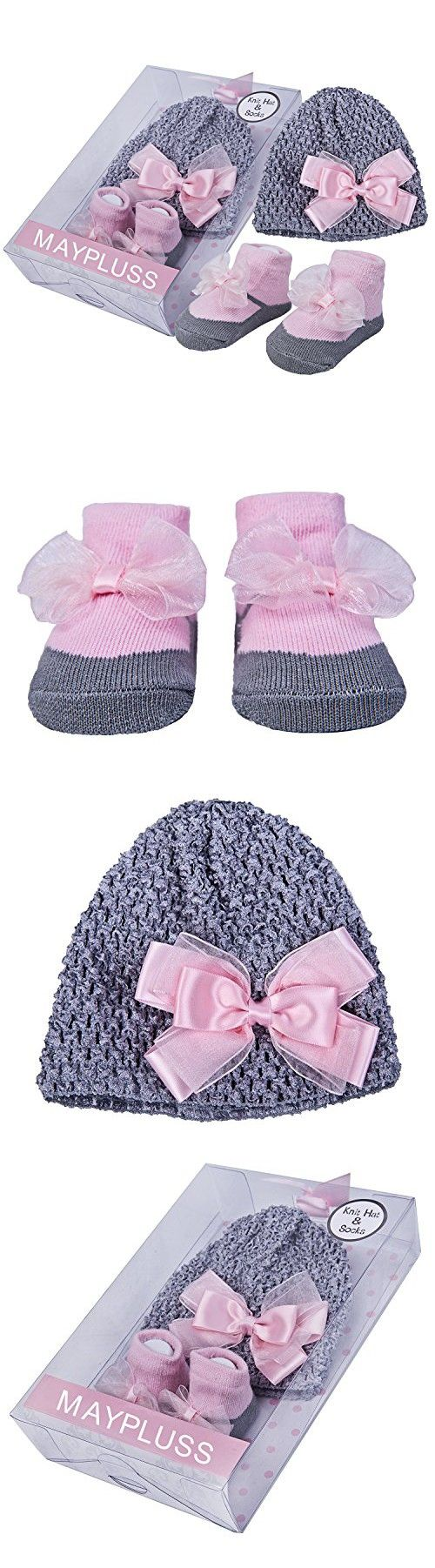 ac20bac9c85 Maypluss Grey Pink Knit Hat and Socks
