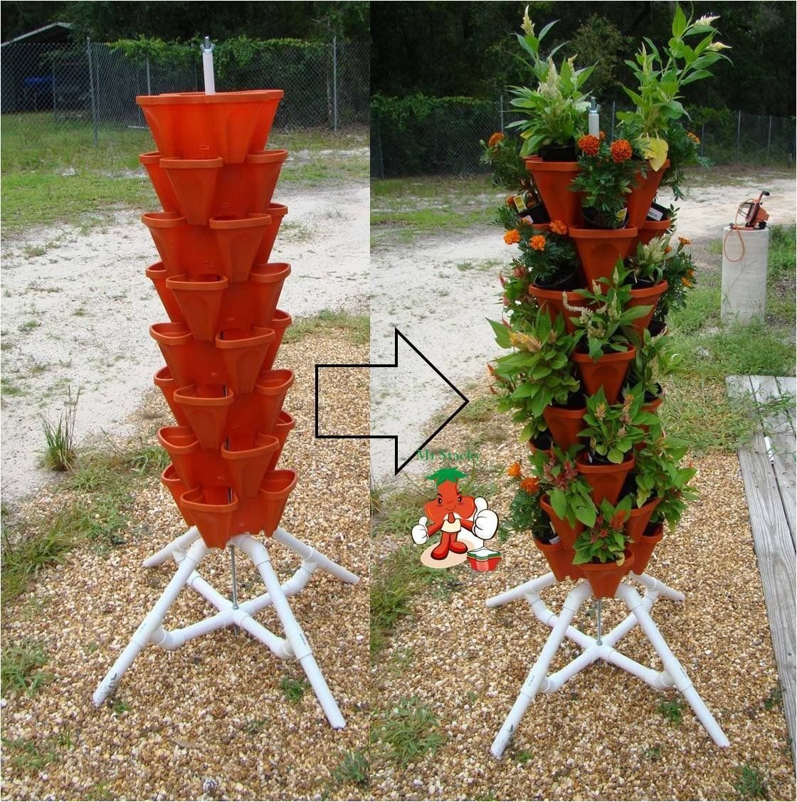 Amazon Garden Pots And Planters Amazon Vertical Gardening Tiered Tower Indoor
