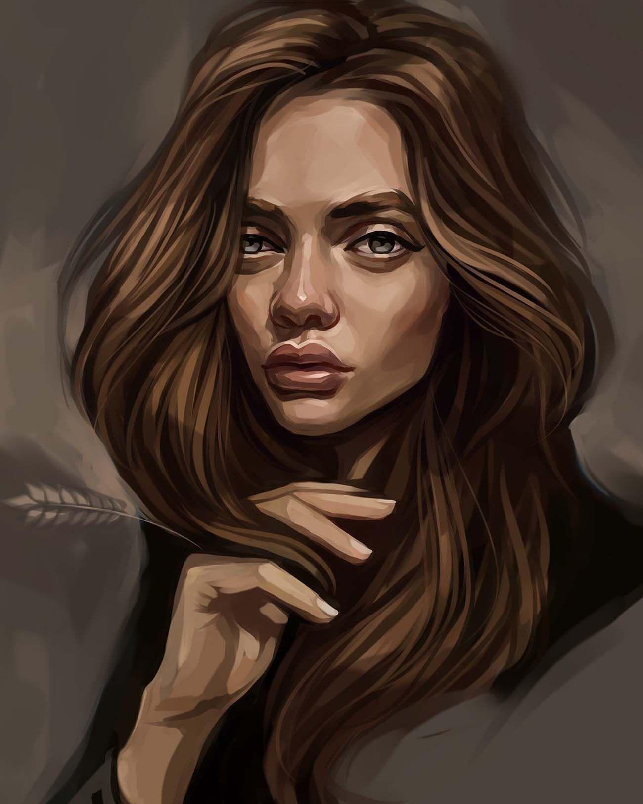 Digital Painting Inspiration Vol. 29   Digital art girl