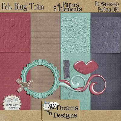 Day Dreams 'n Designs: SNP February Blog Train Freebie!