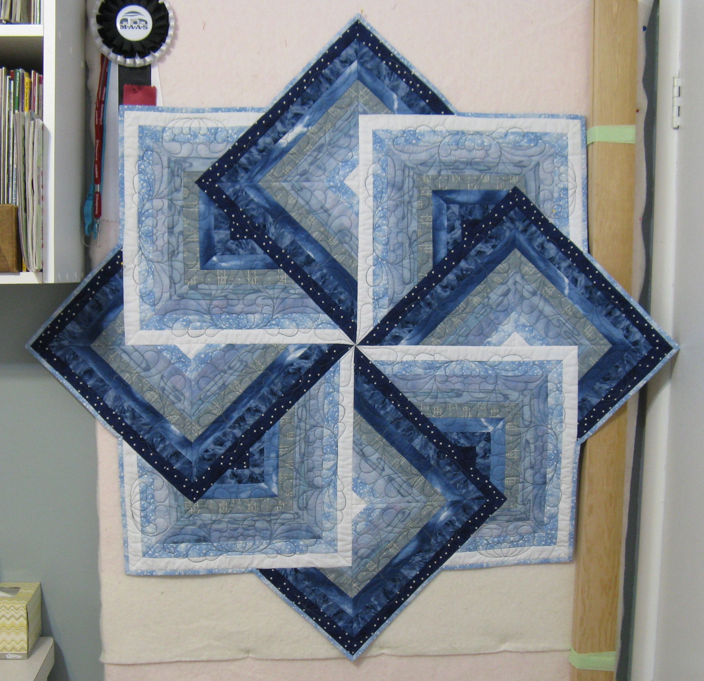 My version of Crazy Eight Strip Teaser Table Topper - made by ... : crazy eights quilt pattern - Adamdwight.com