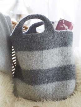 Gestreifte Filztasche Gratisanleitung Felt Knitting Knitting