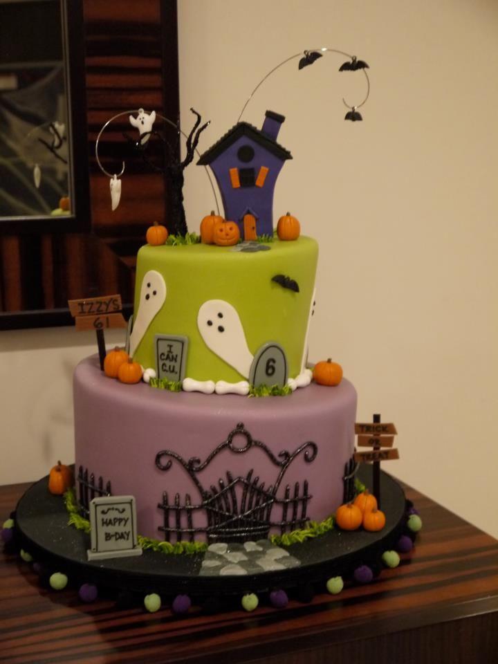 A Halloween Birthday Cake! Monster Mash Pinterest Halloween - halloween birthday cake ideas
