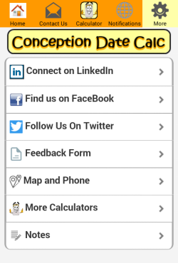 Conception Date Calculator From Baby Due Date Day And Time