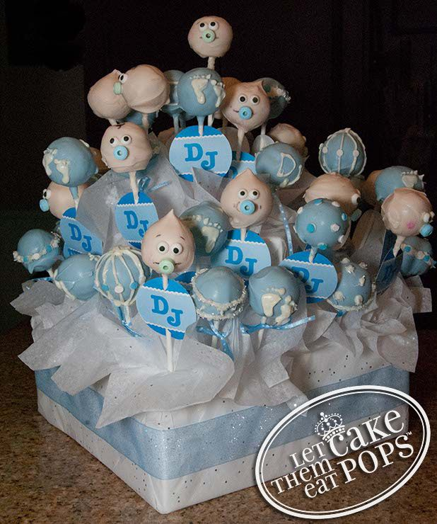 Display Baby Shower: Baby Shower Cake Pop Display By LetThemEatCakePops.com