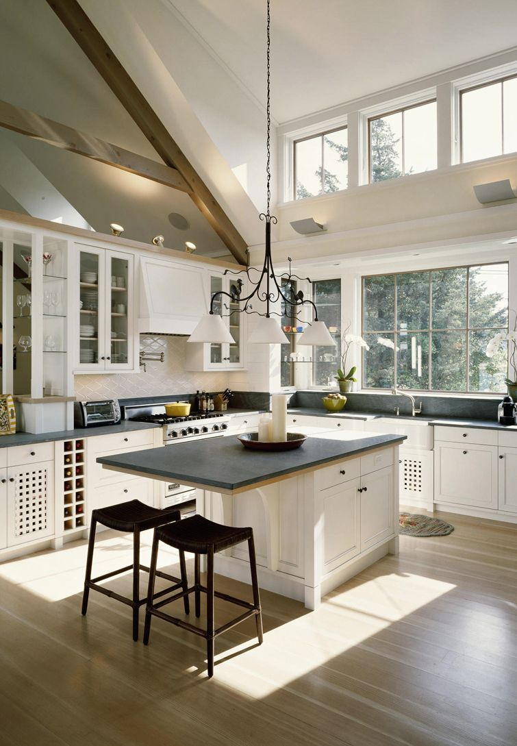 "Can We Open Up Our ""a"" Frame Like This Our South Facing Stunning Open Kitchens Designs Design Ideas"