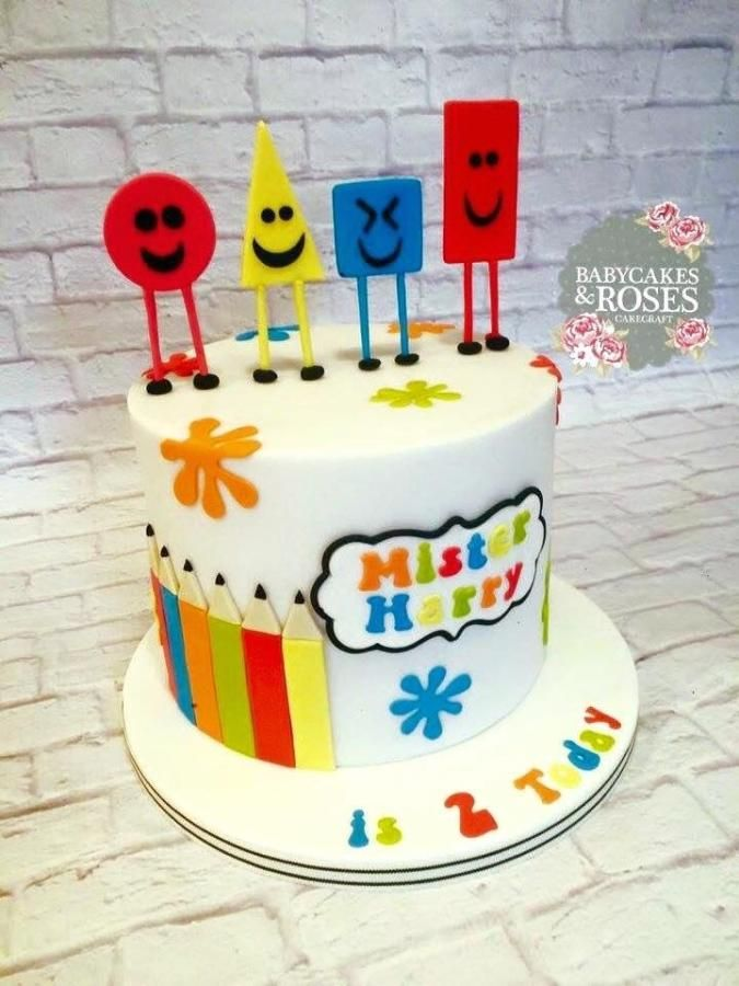 Awe Inspiring Mister Maker Shapes Cake Cake By Babycakes Roses Cakecraft Personalised Birthday Cards Cominlily Jamesorg