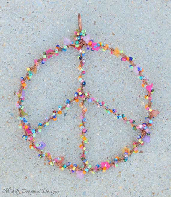 Peace sign, metal peace sign, hippie room decor, peace symbol ...