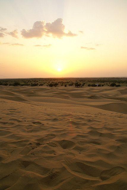 Thar desert Sunset by clara & james