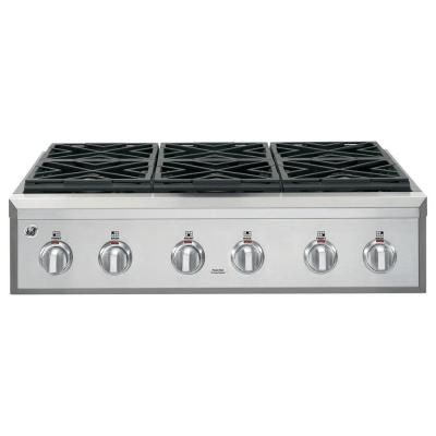Cafe 36 In Gas Cooktop In Stainless Steel With 6 Sealed Burners Cgu366sehss The Home Depot Gas Cooktop Cooktop Kitchen Stove