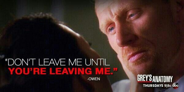 Don\'t leave me until you\'re leaving me.\