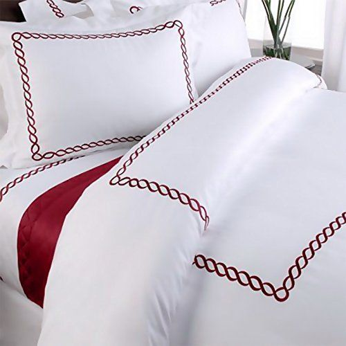 Pratesi Up Down QUEEN Duvet Cover White GOLD Embroidery COTTON SATEEN