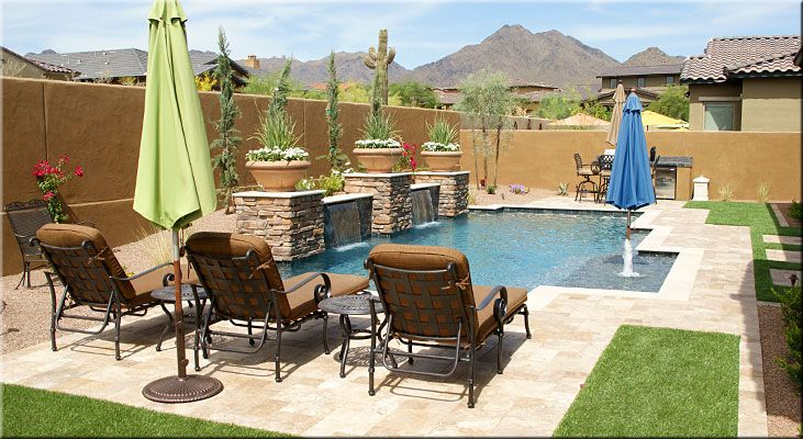 I Love This Pool Backyard Arizona Arizona Backyard Arizona Backyard Landscaping