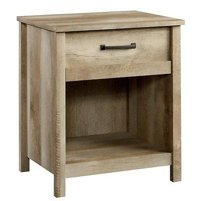 Sauder 416868 Cannery Bridge Night Stand With 1 Drawer Shelf
