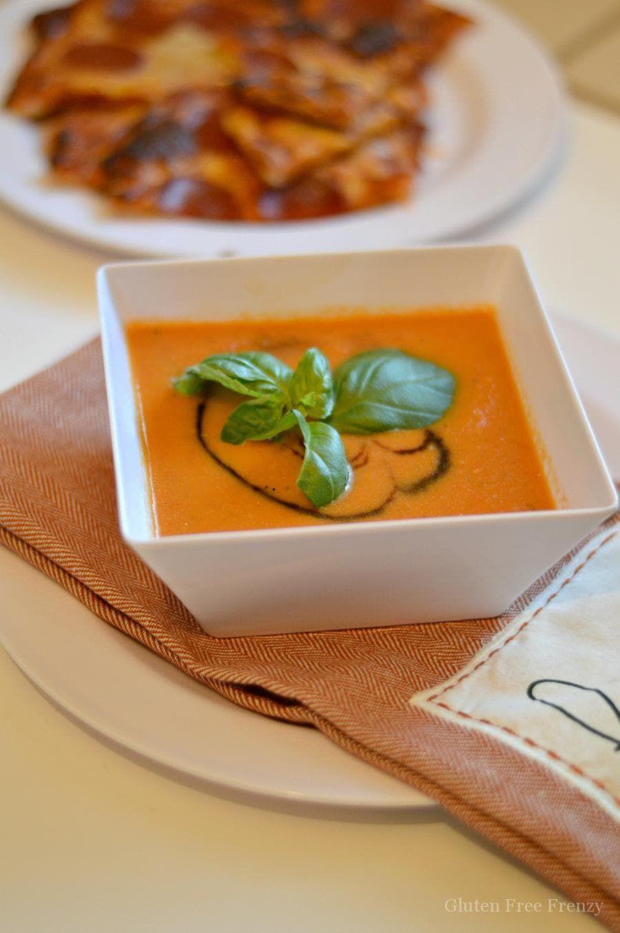 Caprese roasted tomato soup recipe gluten free tomato