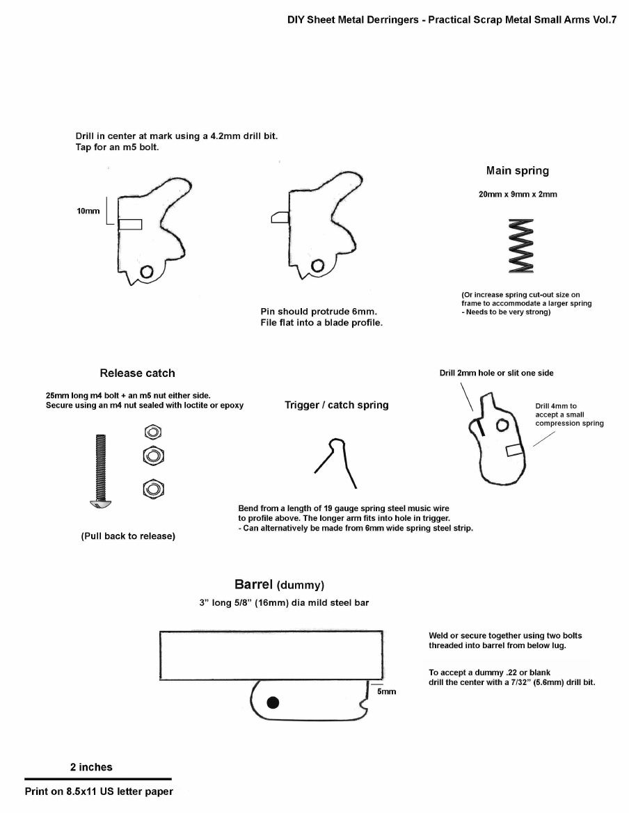DIY Sheet Metal Derringers - Practical Scrap Metal Small Arms Vol.7 ...