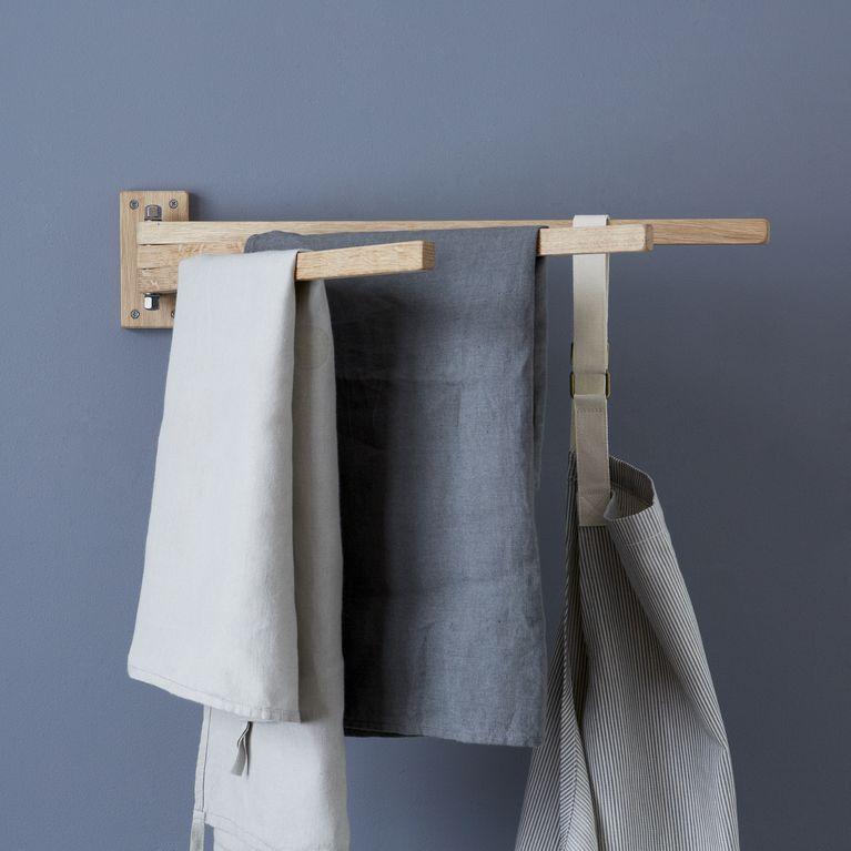 Swedish Interiordesign: Swedish Wooden 3-Prong Towel Rack