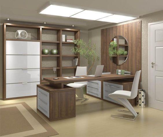 17 modelos de escrit rio decorado shelves - Modelos de escritorios ...