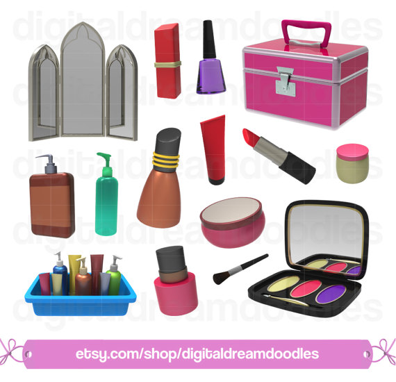 Makeup Clipart, Make Up Clip Art, Cosmetics PNG, Beauty