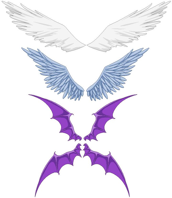 Картинки дьявольских крыльев для пони