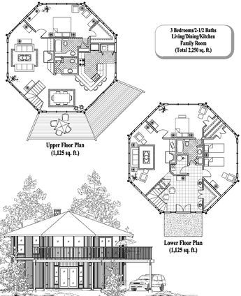 Online House Plan 2250 sq ft, 3 Bedrooms, 2 1/2 Baths, Two-Story