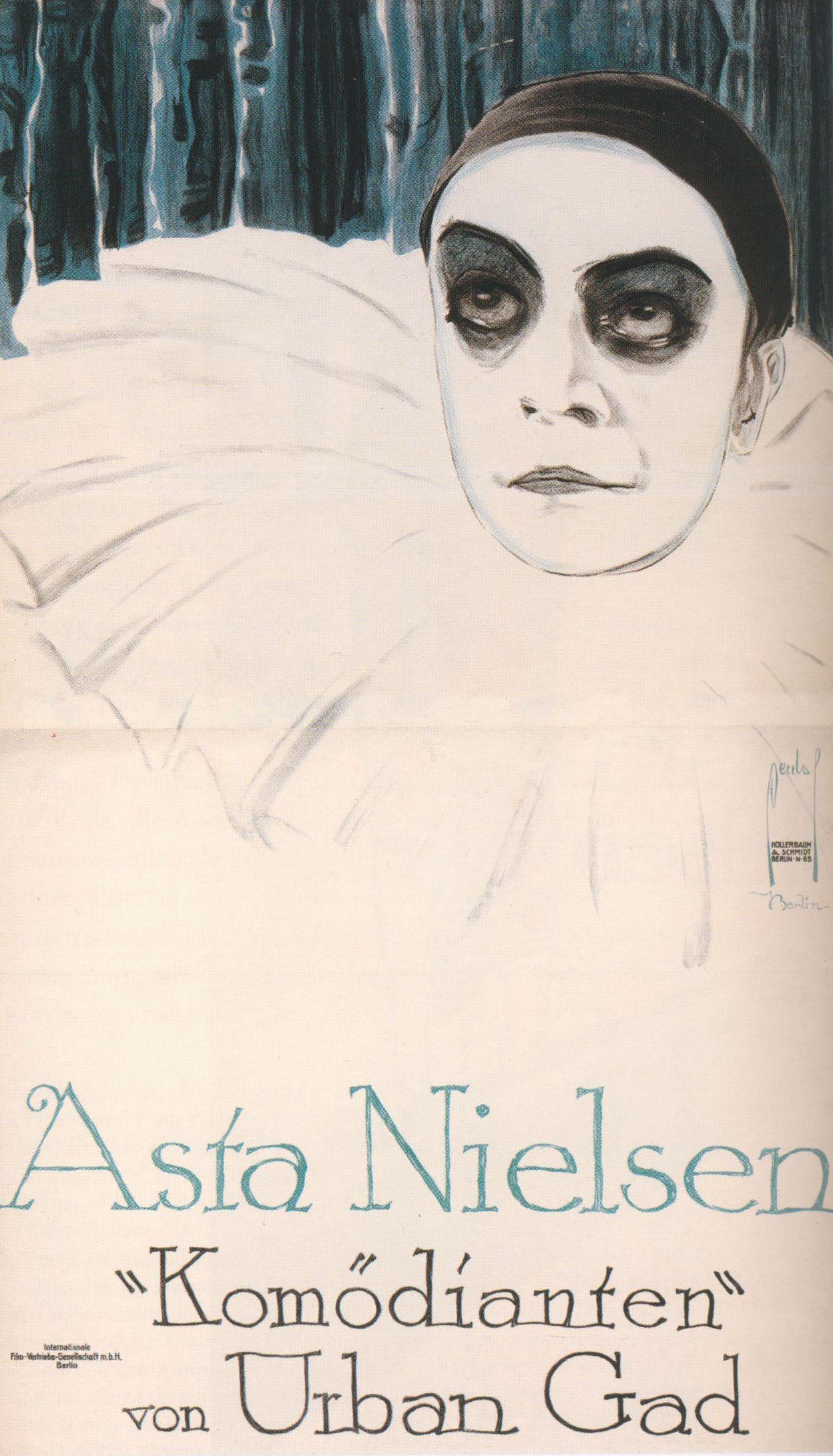 Asta Nielsen as Pierrot in Urban Gad's Behind Comedy's
