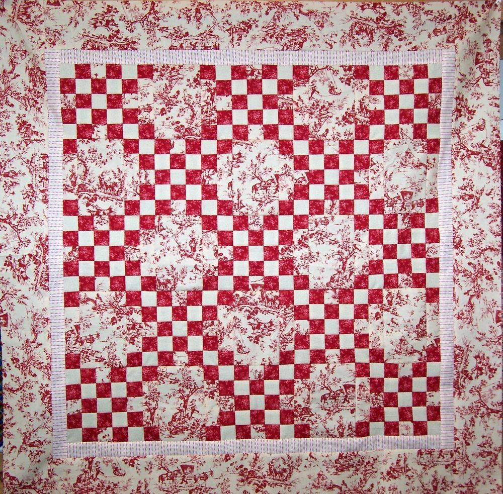 Floral Irish Chain PDF Quilt Pattern. | Red and white quilts ...