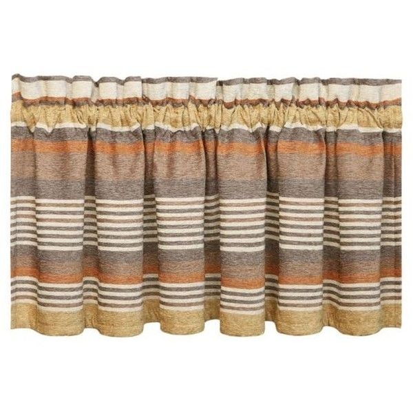 J Queen New York Brown Montaneros Straight Valance ($53) ❤ liked on Polyvore featuring home, home decor, window treatments, curtains, brown, brown window valance, window coverings, brown window treatments, window valances and window curtains