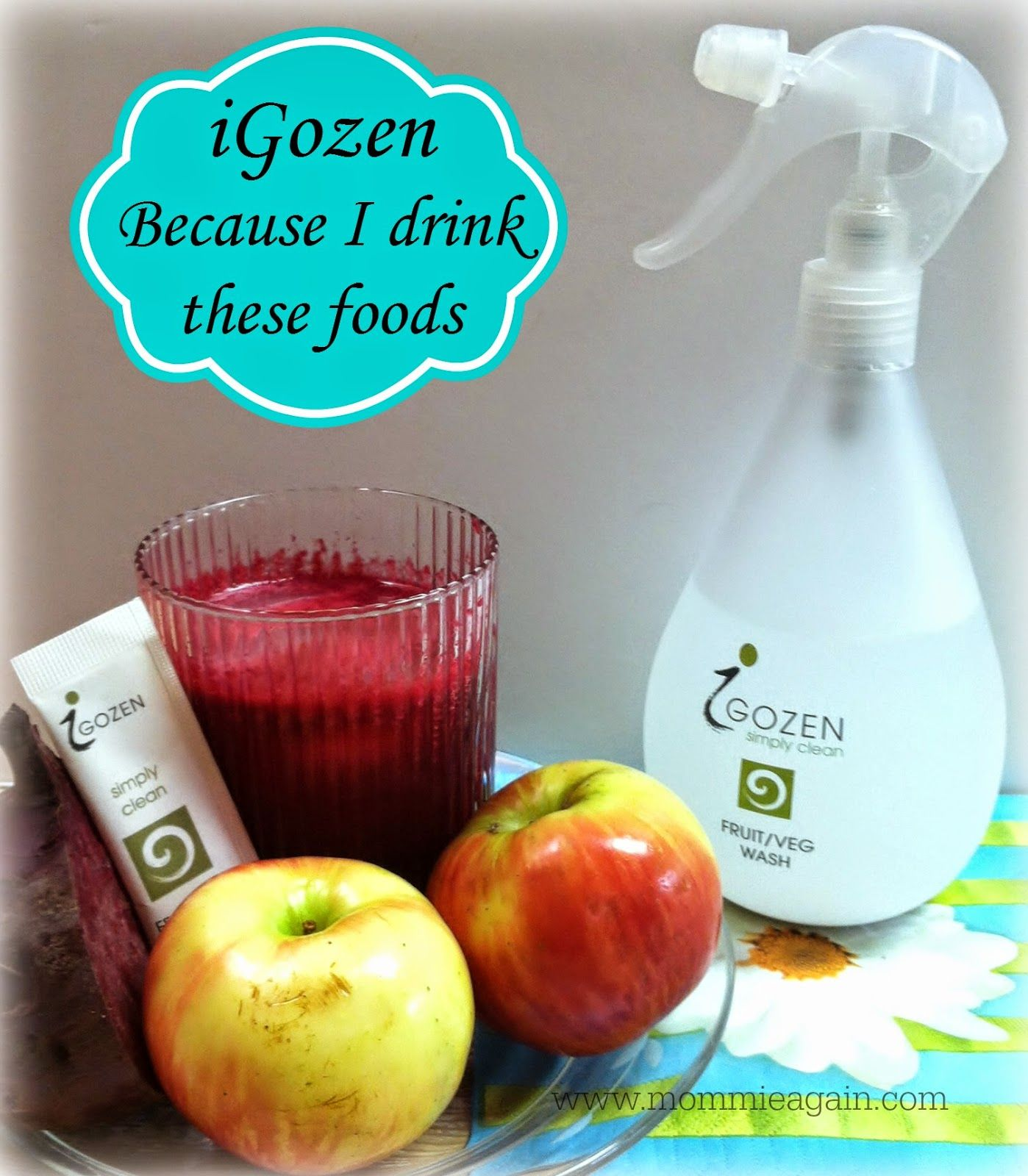 Mommie...Again: When Water is not Enough. Fruit and Vegetable Organic Wash iGOZEN + Giveaway US ONLY Ends 7/10/14 #iGOZEN