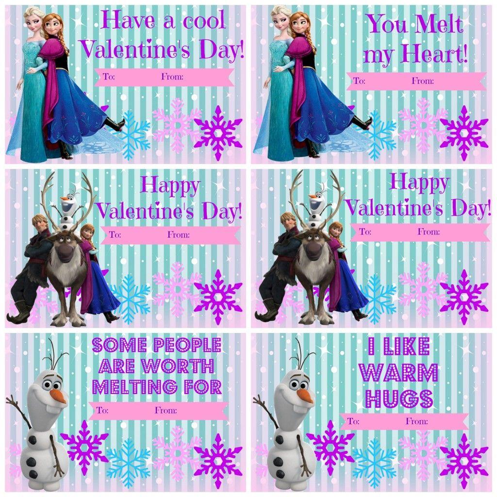 Free Frozen School Valentines Day cards  Valentines  Pinterest