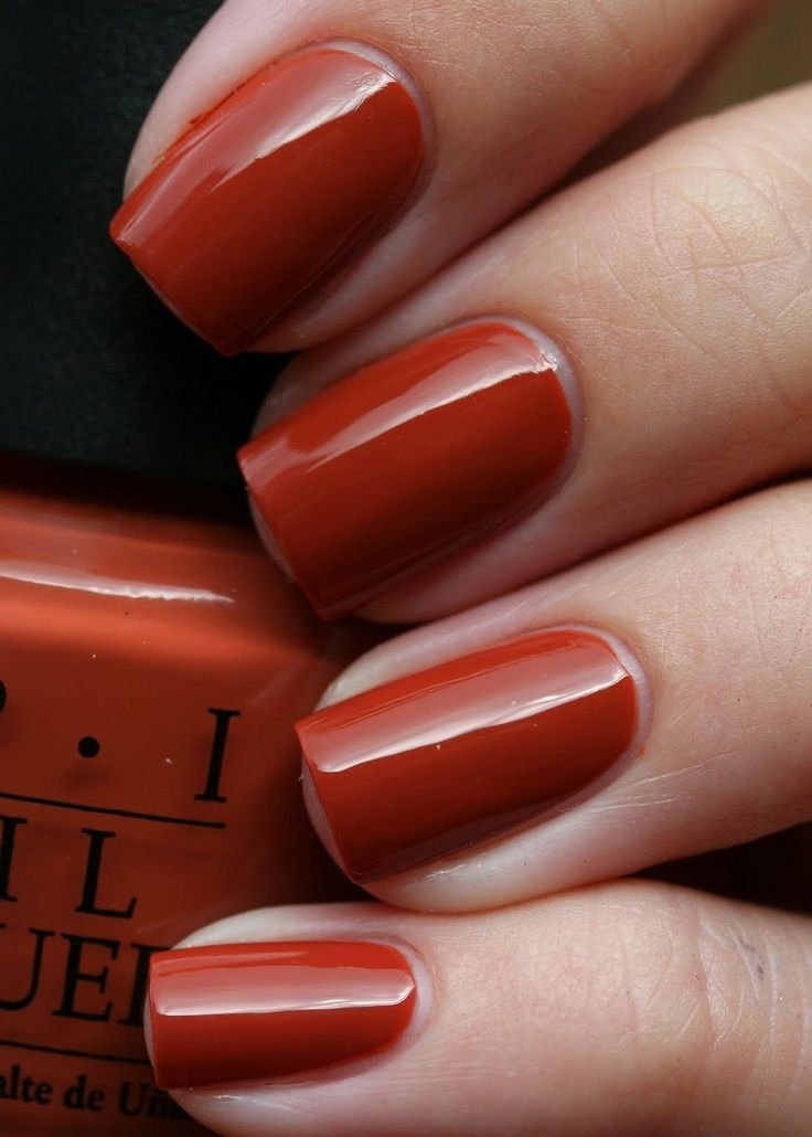 dark orange nail polish - 736×1030